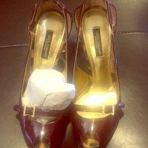 Dolce and gabbana peep toe stilettos